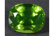 3.17ct Vivid-green zircon from Sri Lanka